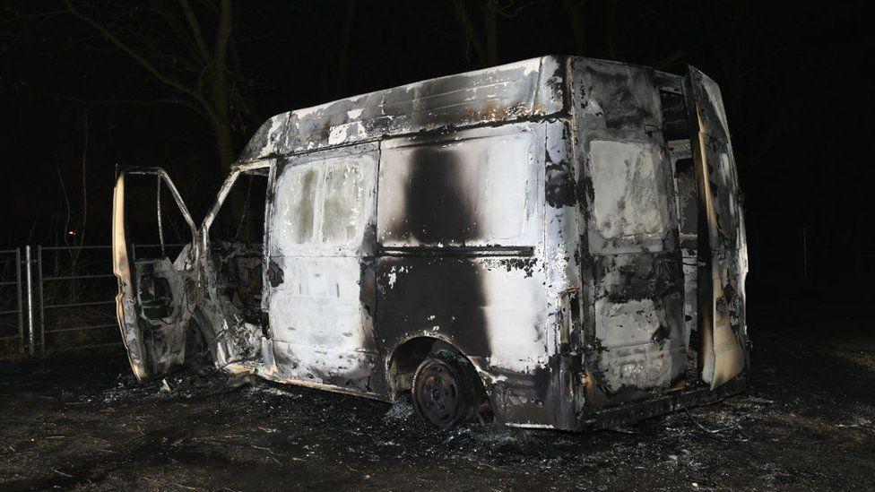 Burnt out van
