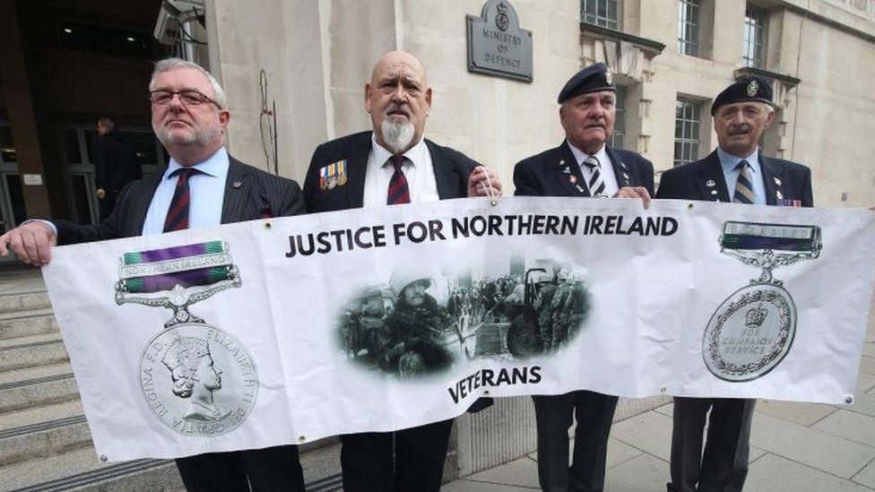 Northern Ireland veterans protest
