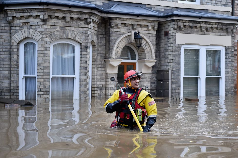 A search and rescue worker in York