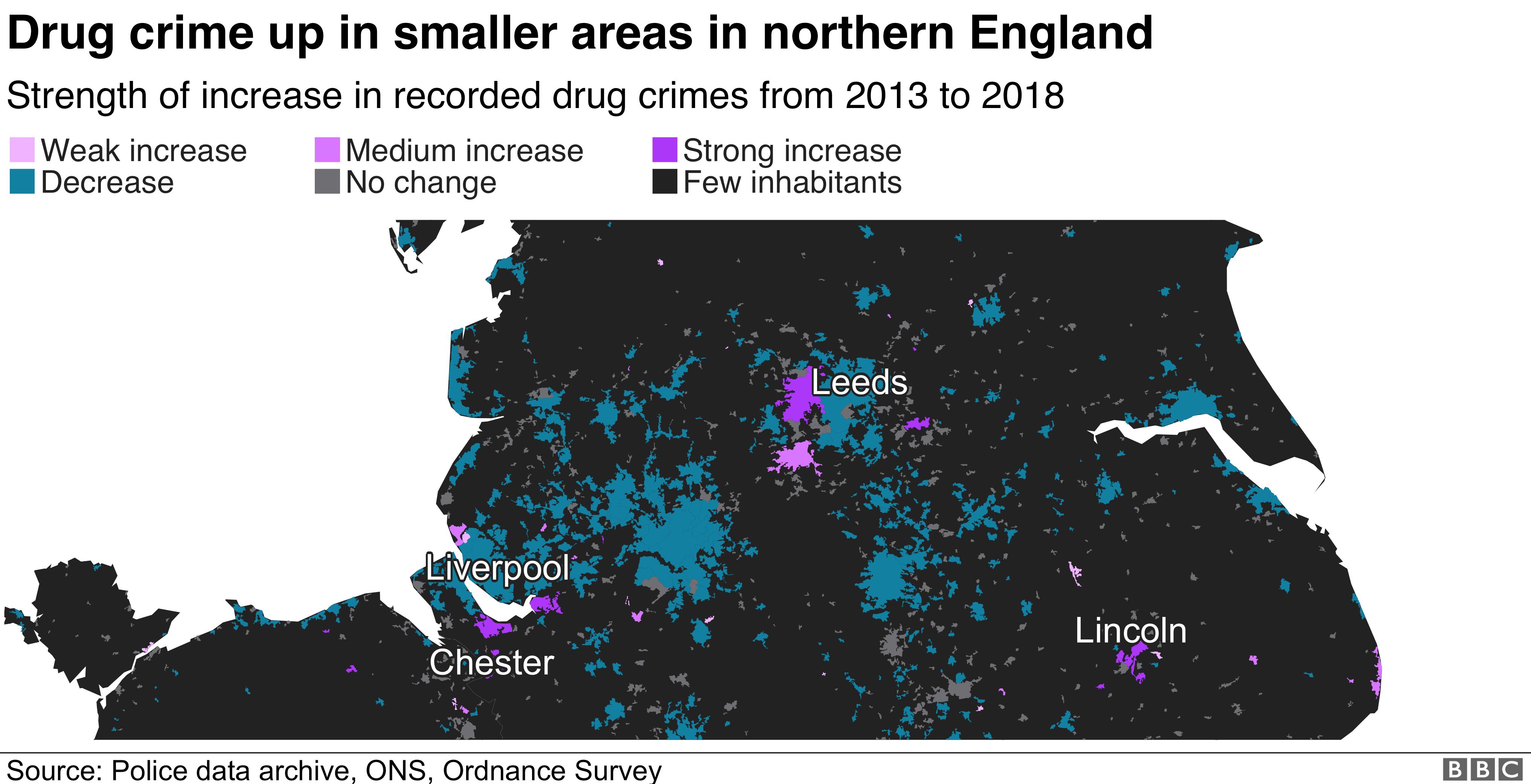 Drug crime mapped - BBC News