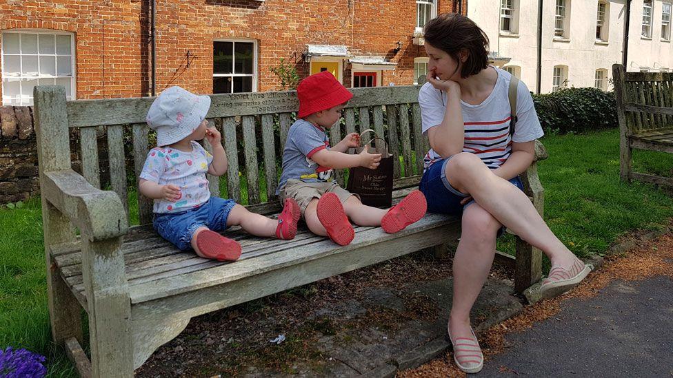 Ellie Finch Hulme with her children