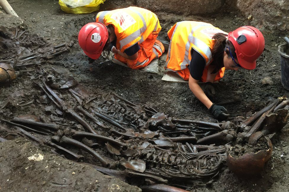 Excavation of the Bedlam burial ground