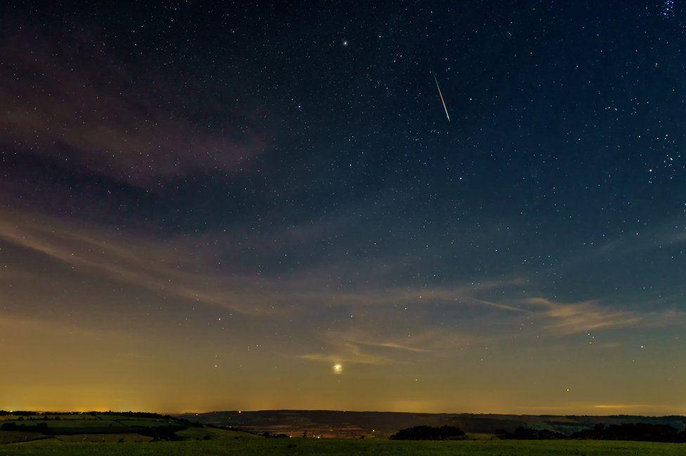 Perseid meteor shower in Gloucestershire