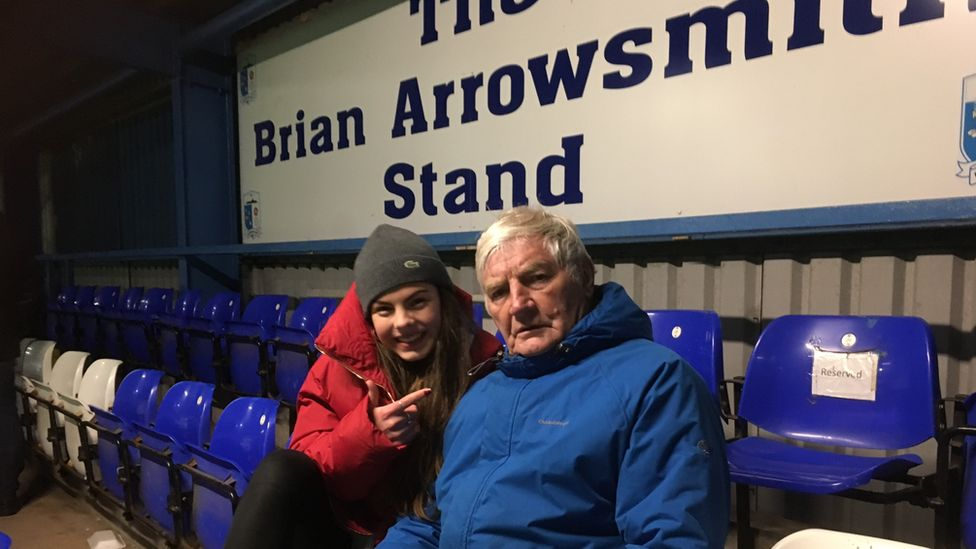 Brian poses in the Brian Arrowsmith Stand