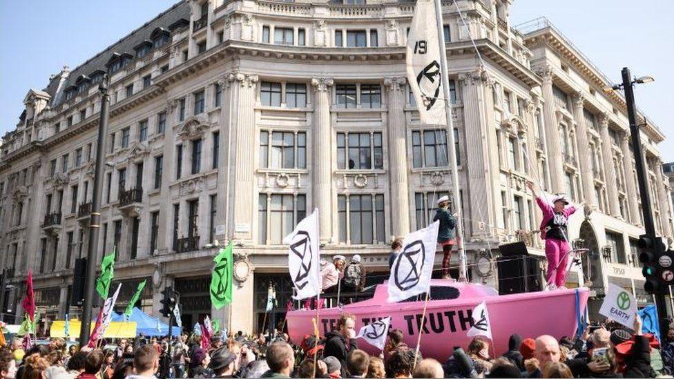 Protests at Oxford Circus