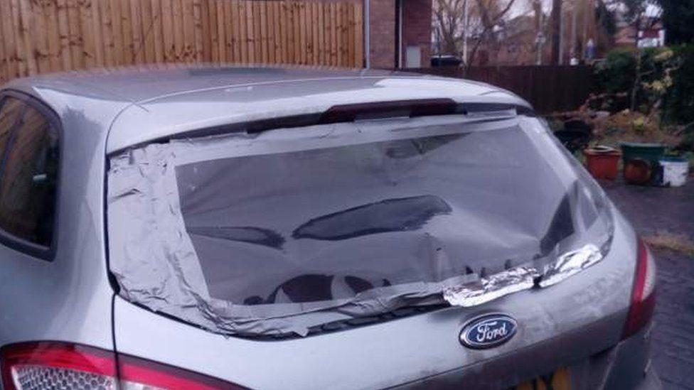 Back window damage