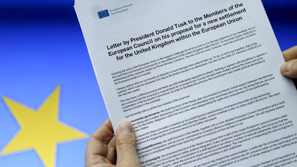 A letter sent by European Council President Donald Tusk to European Union leaders