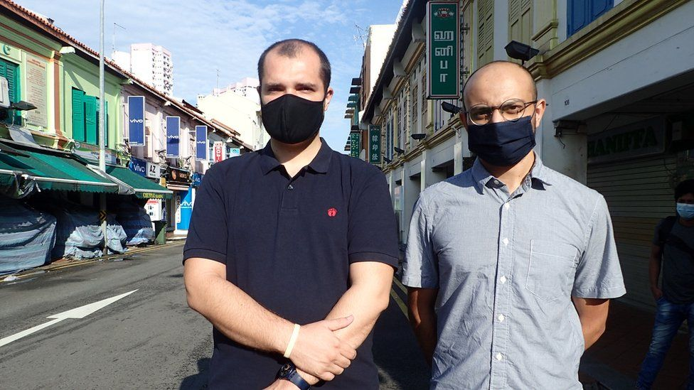 Nemanja Grujicic and Kirtan Patel in Singapore