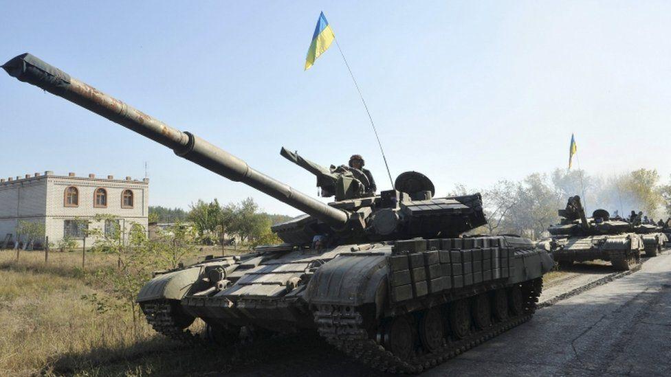 Ukrainian army tanks