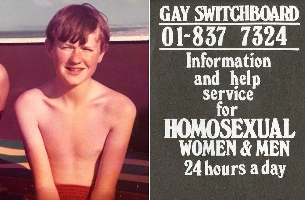 Mark Gatiss as a boy/Switchboard poster