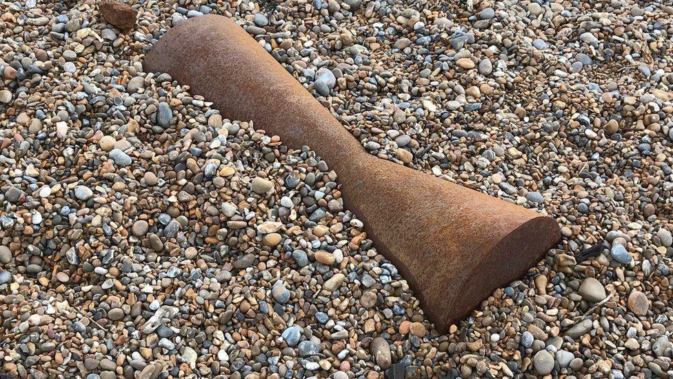 The Sir Antony Gormley sculptures at Aldeburgh beach