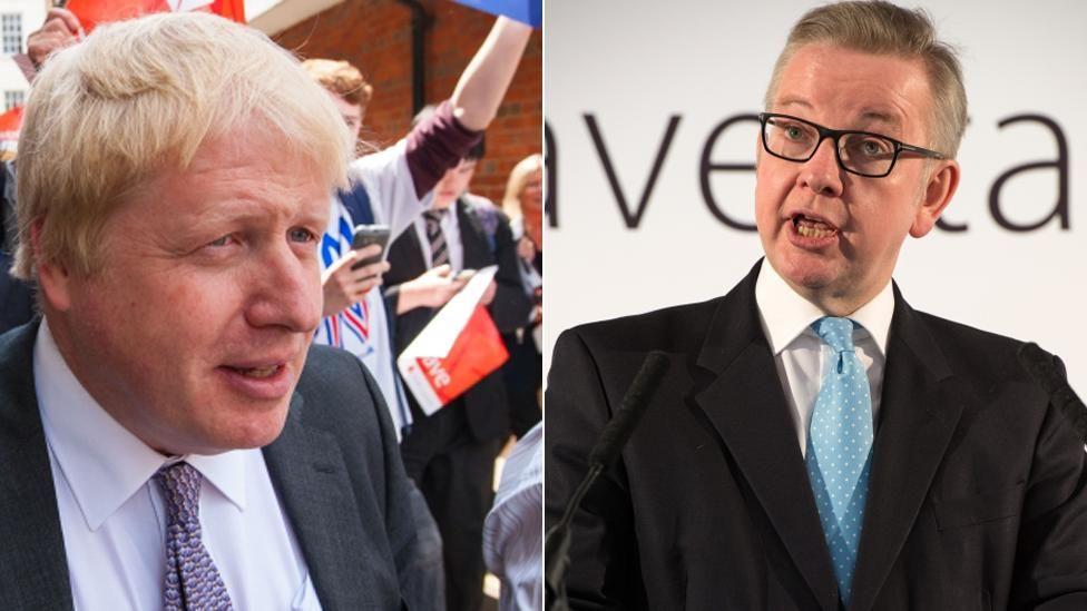 Boris Johnson, left, and Michael Gove