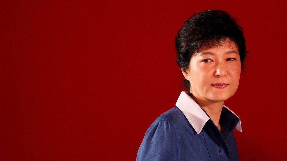 Park Geun-hye attends a national convention of the ruling Saenuri Party in Goyang, north of Seoul, South Korea 20 August 2012.