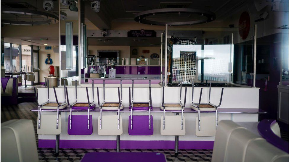 closed diner in blackpool