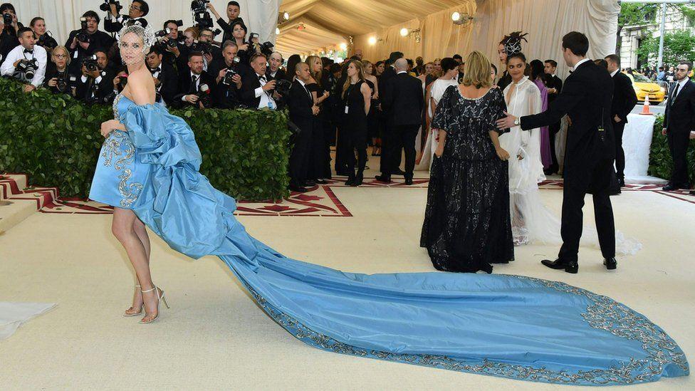 Diane Kruger arrives for the 2018 Met Gala on May 7, 2018