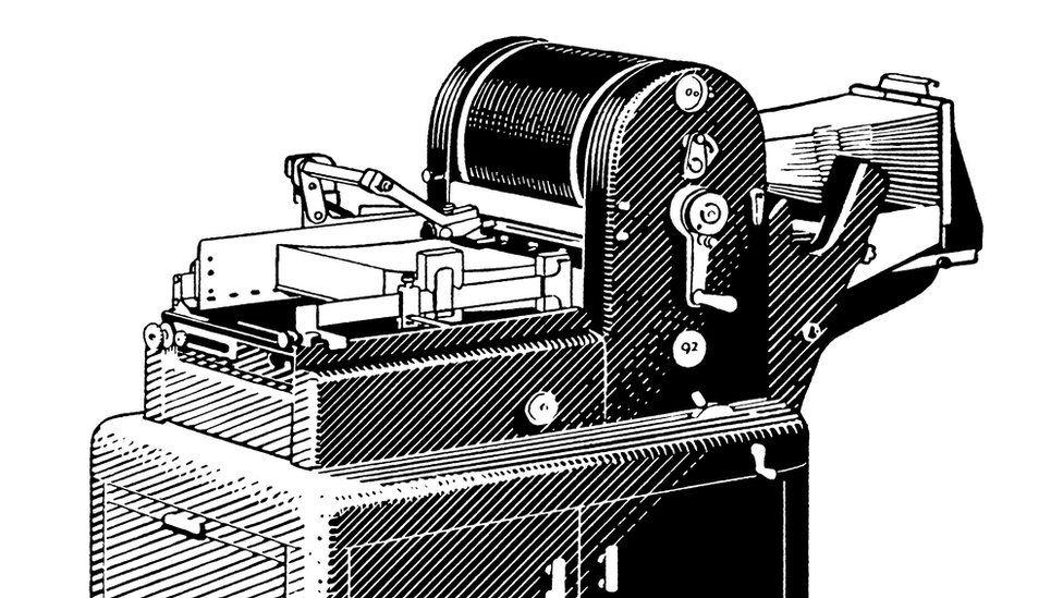 Stock illustration of a mimeograph machine