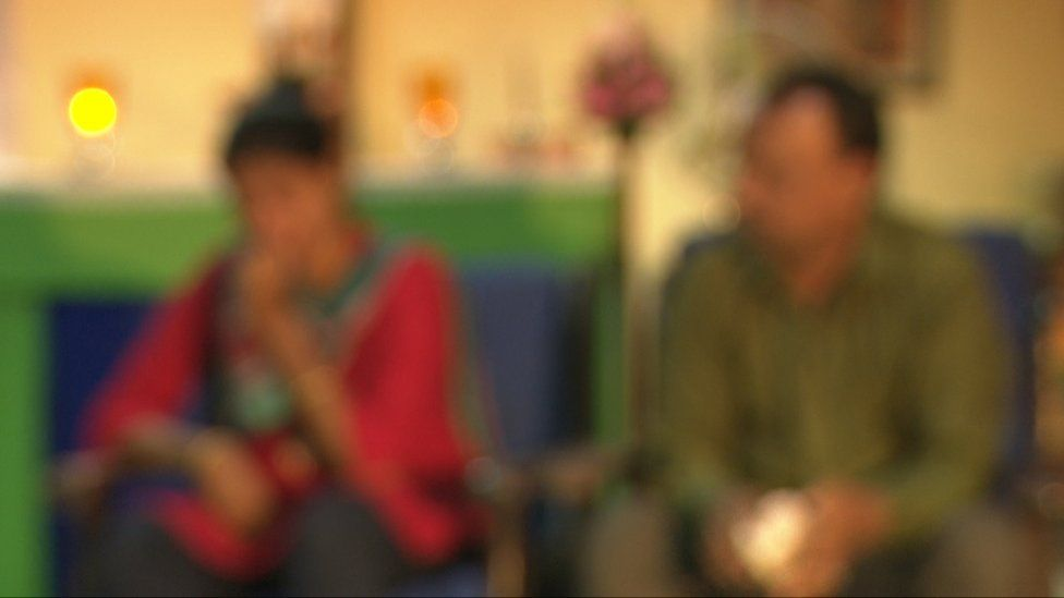 Blurred image of family