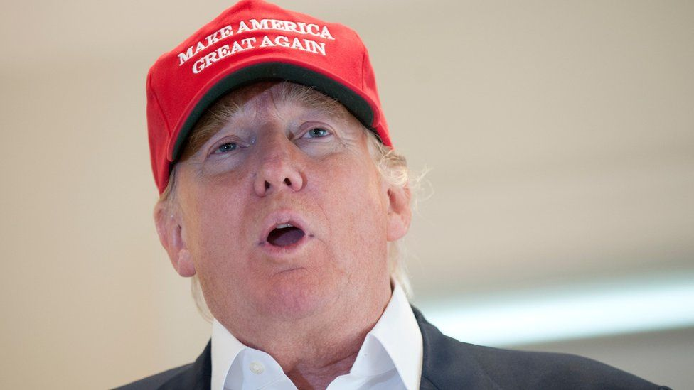 Donald Trump, controversial frontrunner for the Republican nomination in the US presidential elections