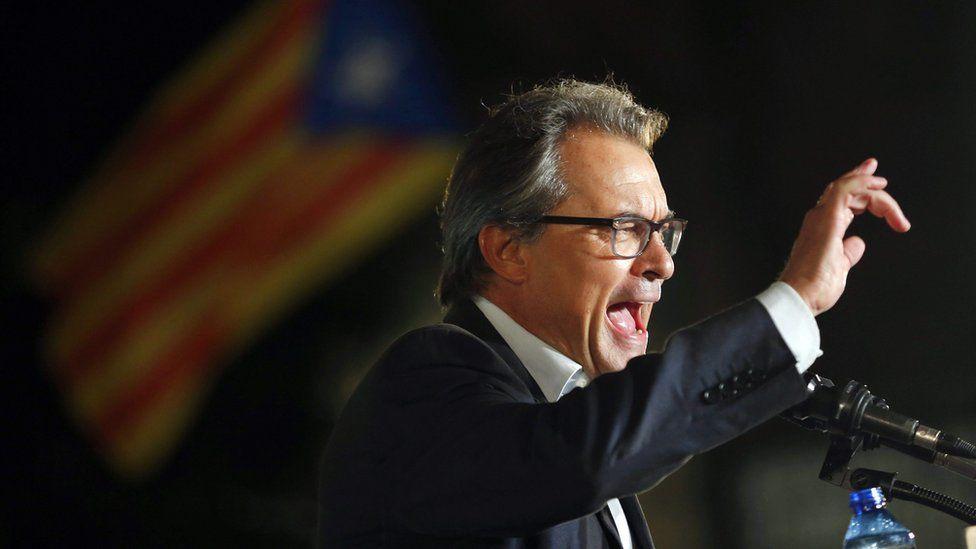 Artur Mas, the head of Catalonia's regional government