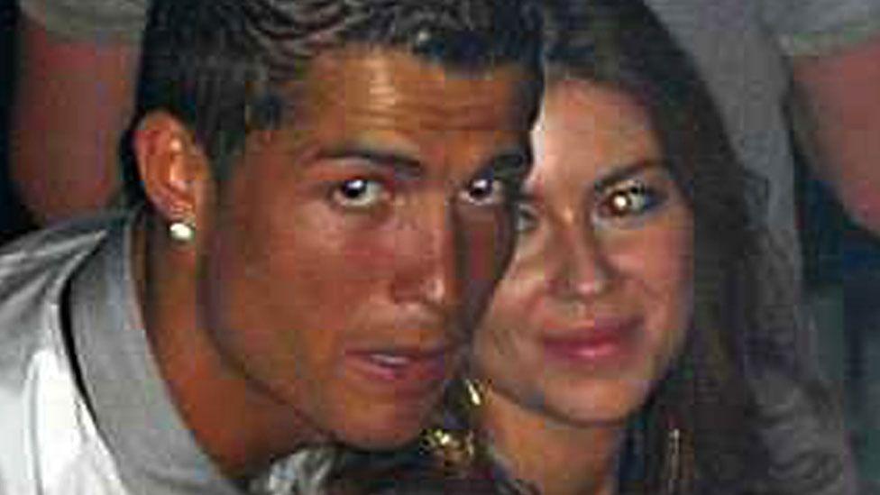 Cristiano Ronaldo and Kathryn Mayorga in Rain nightclub in Las Vegas, June 13th 2009