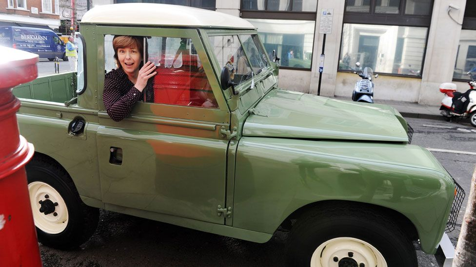 Lynn Bowles with her Land Rover