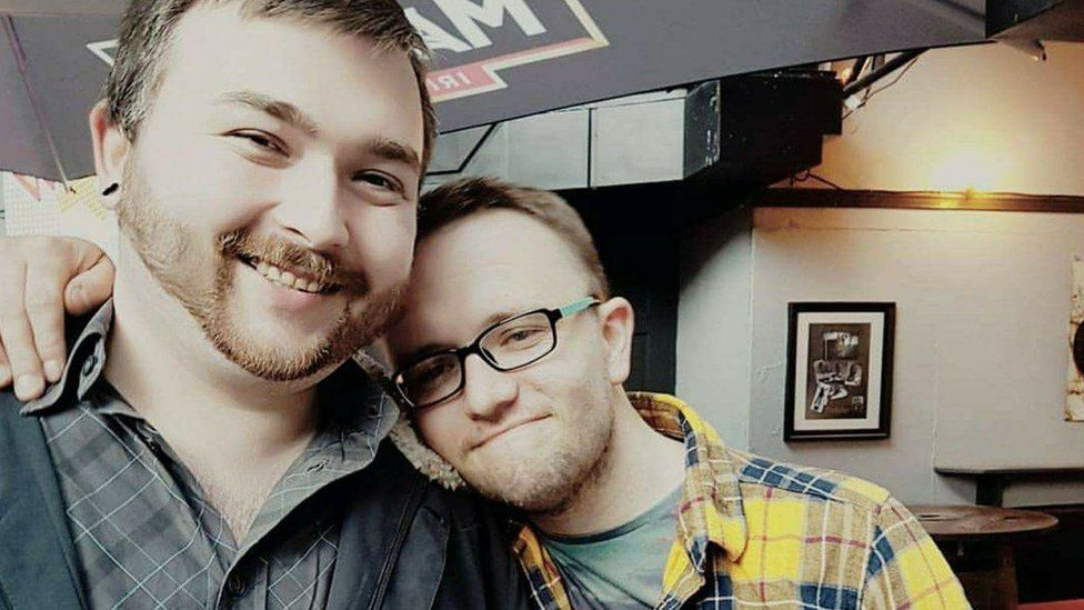 Stephen with his partner William
