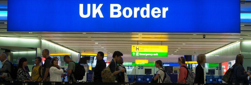 Border controls at Terminal 2, Heathrow Airport