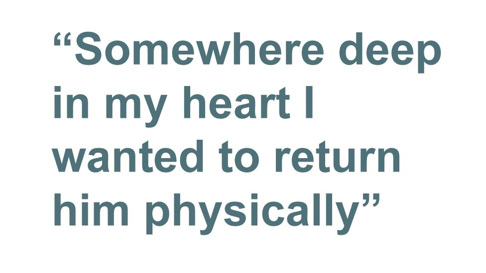 "Quote: ""Somewhere deep in my heart I wanted him to return physically"""