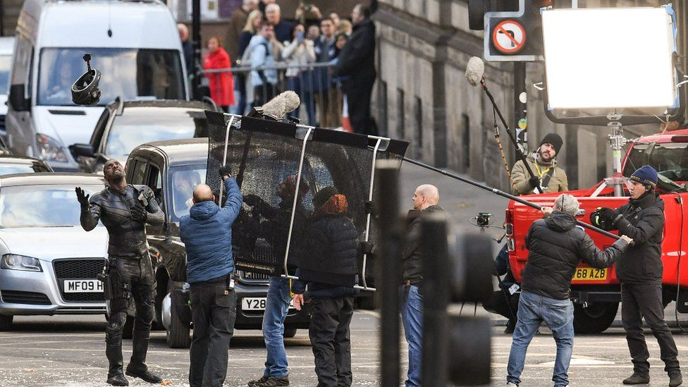 Filming in Glasgow city centre