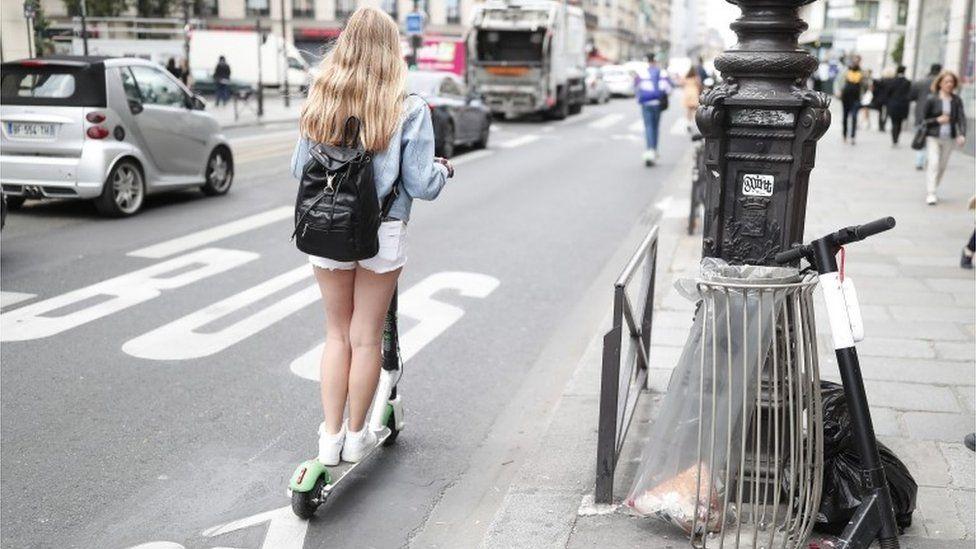 Scooter rider in Paris