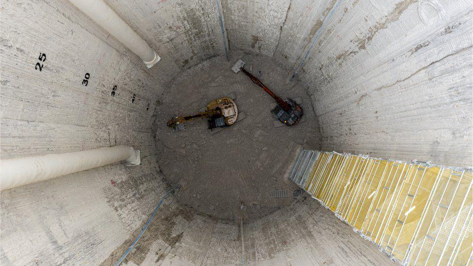 HS2 ventilation shaft at Chalfont St Peter