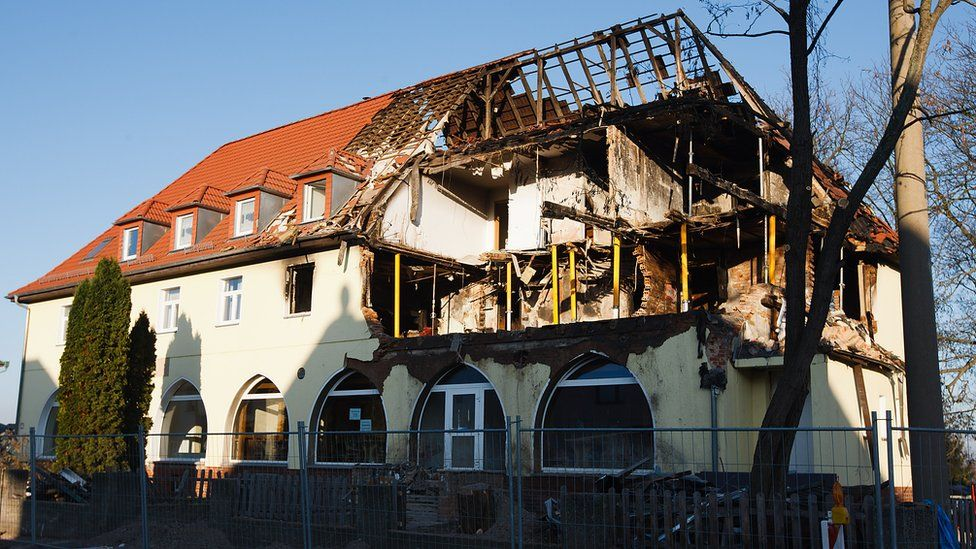 Ruins of cell's Zwickau home, 13 Nov 11