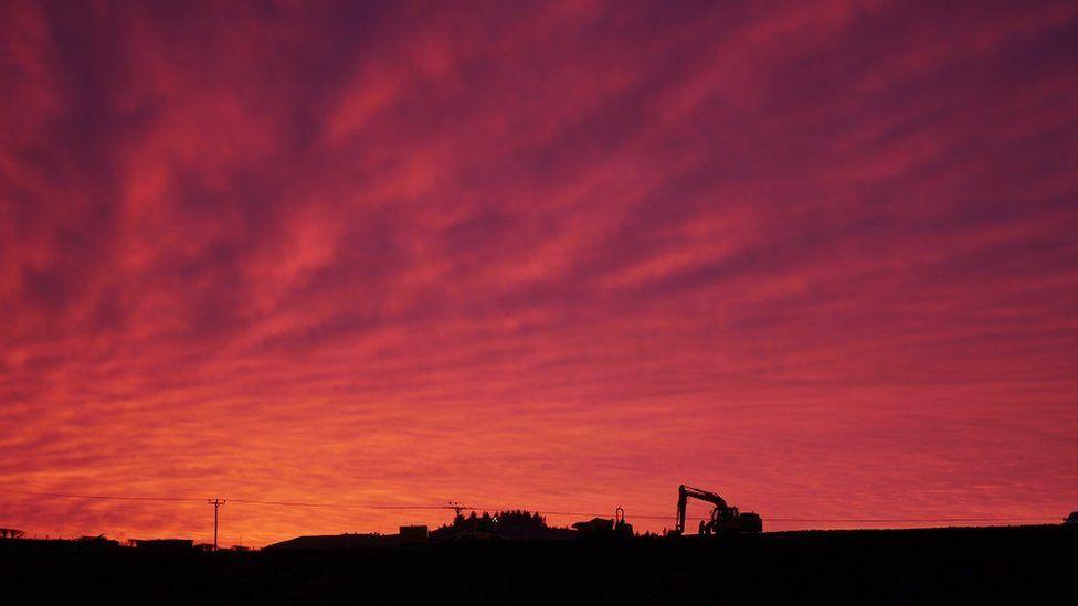 Maybole sunset