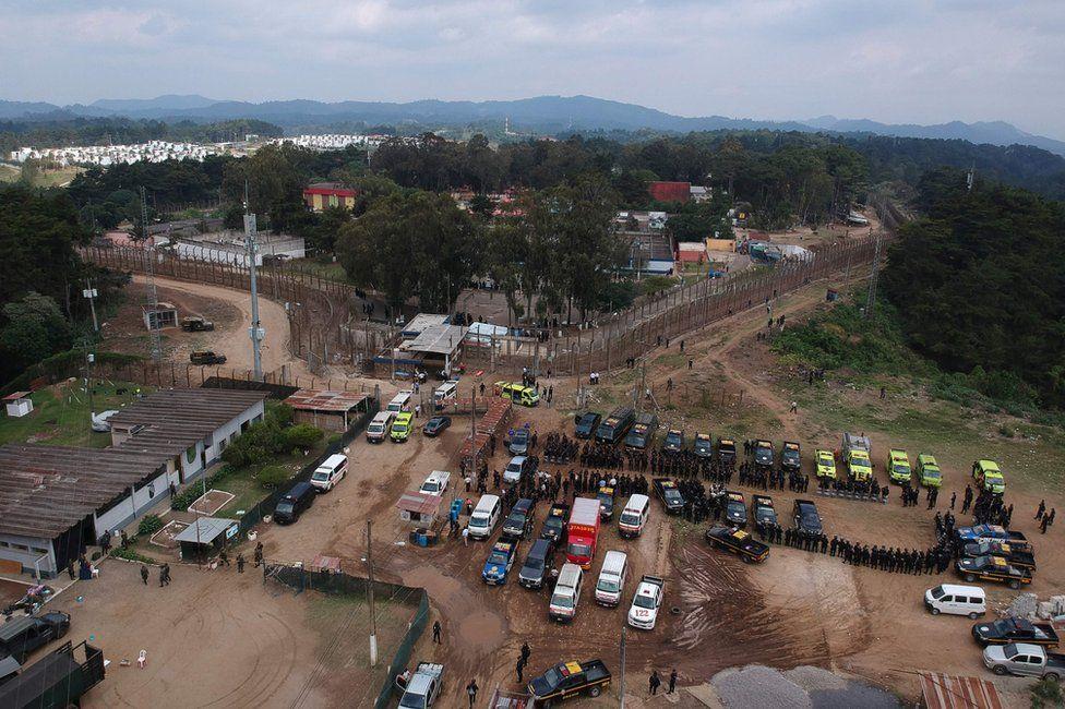 Pavón aerial footage during riot