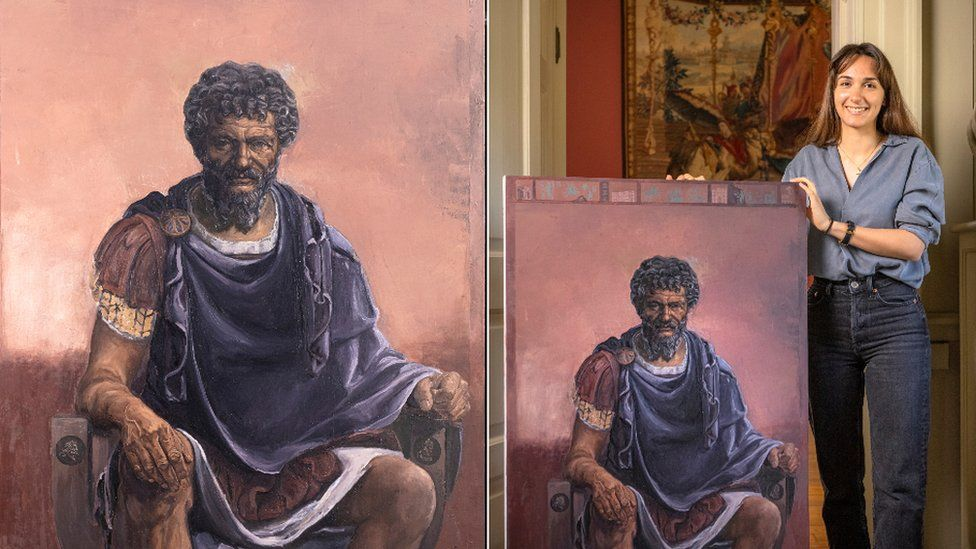 Elena Onwochei-Garcia portrait of Roman Emperor Septimius Severus