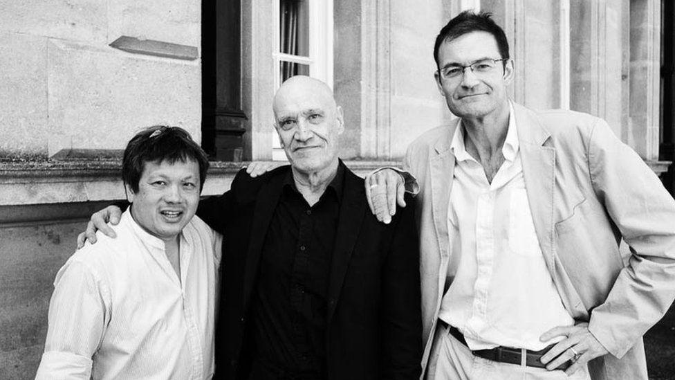 Charlie Chan with musician Wilko Johnson and Emmanuel Huguet