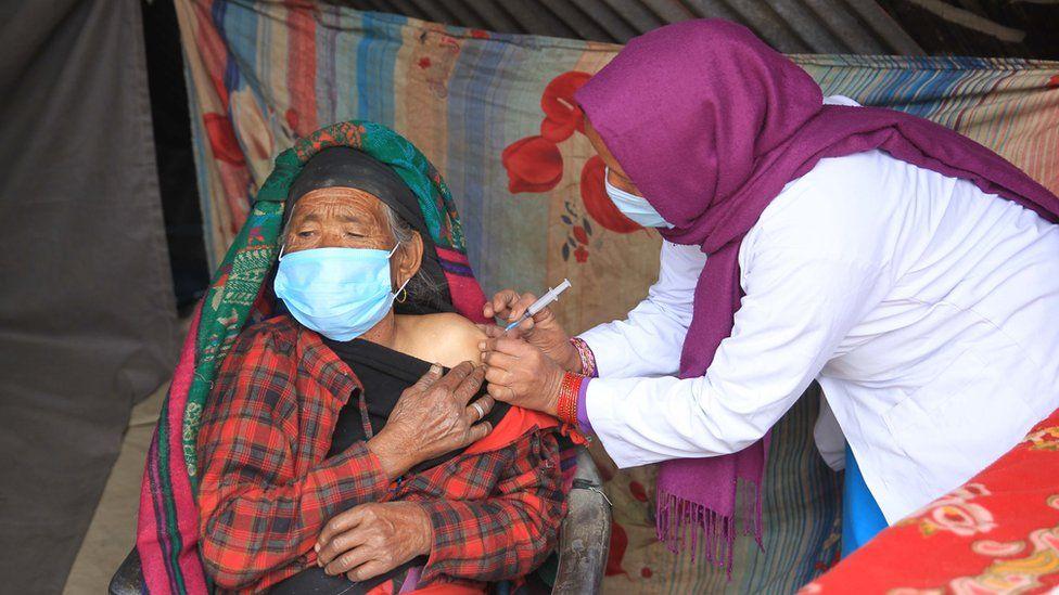 Chaitee Rawat gets the Covid vaccine