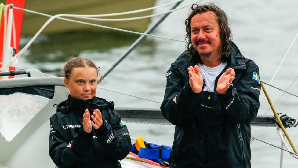 Greta Thunberg and her father Svante Thunberg