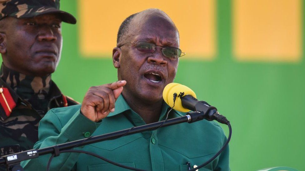 Tanzania's President John Magufuli pictured in August 2020