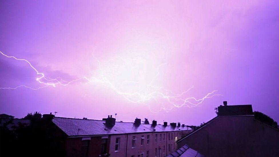The sky in Preston