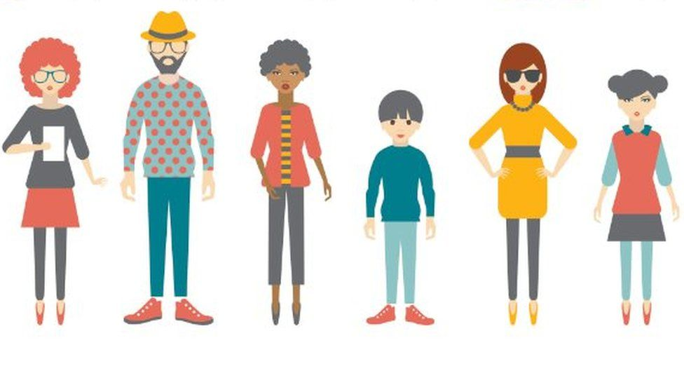 Selection of illustrated people
