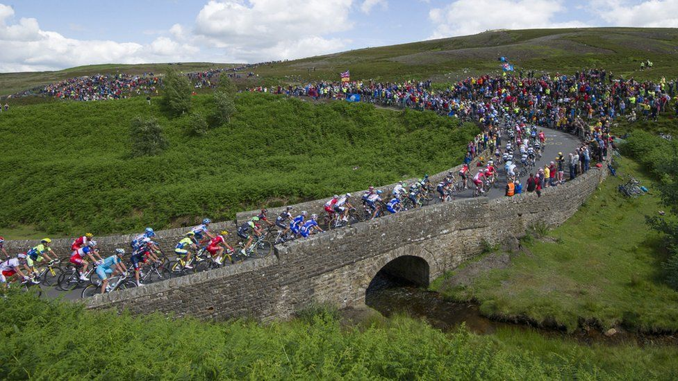 Cycling race peloton