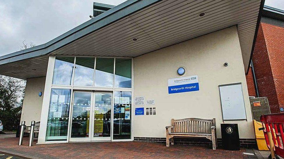 Entrance to Bridgnorth Maternity unit