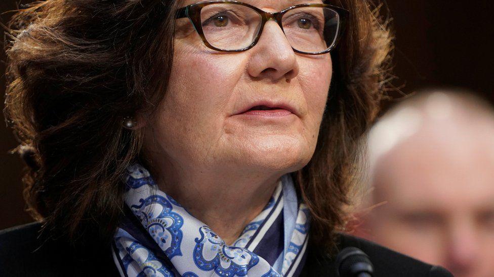 CIA Director Gina Haspel - sitting down