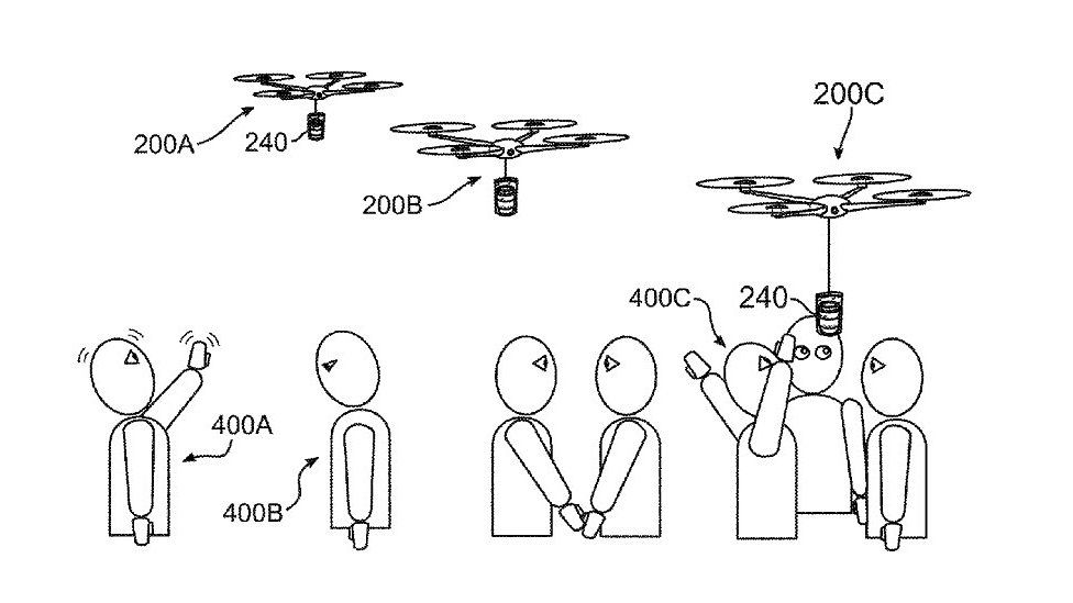 Coffee delivery drone