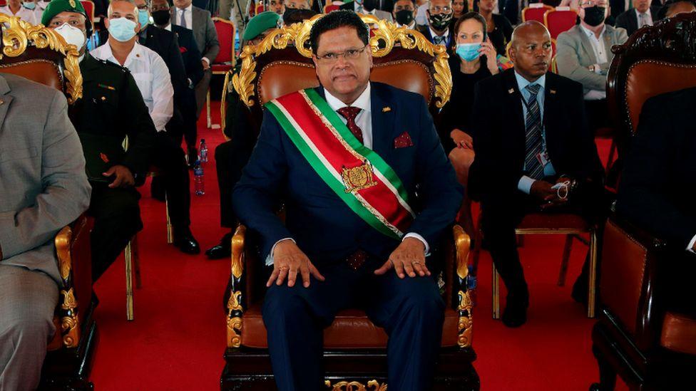 Suriname's President Chan Santokhi