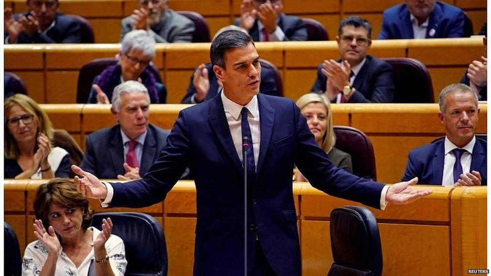 Pedro Sanchez in the Spanish Parliament