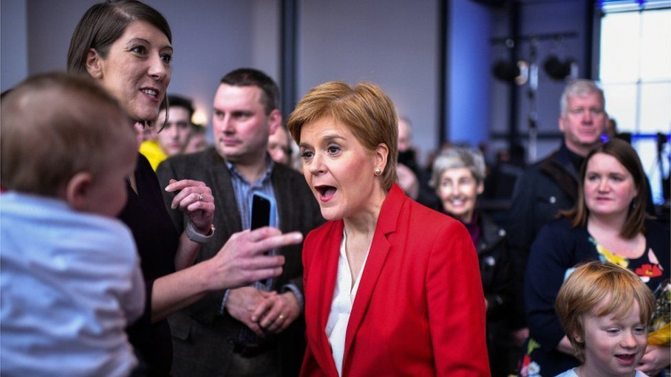 Scottish National Party leader Nicola Sturgeon campaigns in Dundee on 20 November