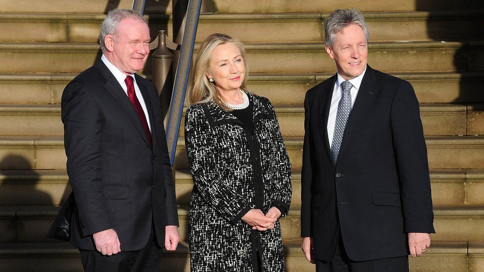 Hillary Clinton visited Stormont when she was US secretary of state in 2012