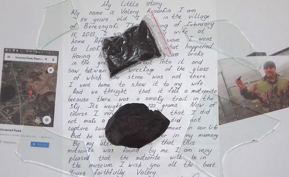 Letter and meteorite
